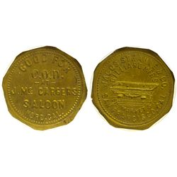Mc Cargers Saloon Token CA - Nord,Butte County - c1885 - saloon