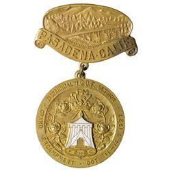 IOOF Badge CA - Pasadena,Los Angeles County - 1921 -
