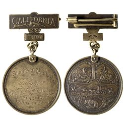 Associated Pioneers of the Territorial Days Silver Medal, Edward C. Kemble CA - San Francisco, - c18