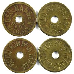 Slot Machine Token Collection: George Hansen Slot Machines CA - San Francisco, -  -