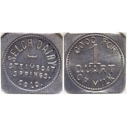 Selch Dairy Token CO - Steamboat Springs,Routt County - c1900-1920 -