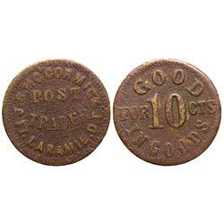 J.S. McCormick Post Trader Token *Territorial* Dakota - Fort Laramie,Goshen County -  -