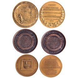 Telephone Company Medals GA - , - c1915 - Tokens