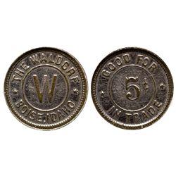 Waldorf Token ID - Boise,Ada County - c1930 - Tokens