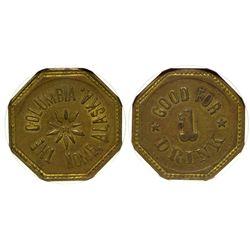 Gem Saloon ID - Mackay,Custer - c1908 - Tokens