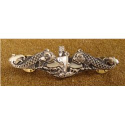 "U.S. NAVY SUBMARINE OFFICER'S BADGE-2 3/4""-DOLPHINS"