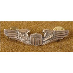 "WWII AAF PILOTS WINGS-STERLING-MAKER""MEYER-2"" CRIMP BCK"