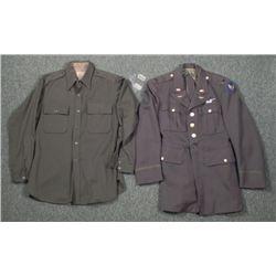 WWII AAF GROUP 2ND LIEUTENANT UNIFORM/SHIRT DOGTAG 1945