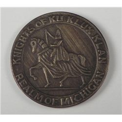KKK/KU KLUX KLAN 1919 REALM OF MICHIGAN MEDALLION -1919