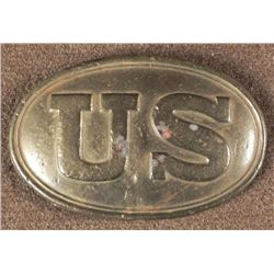 U.S. CIVIL WAR BELT BUCKLE-BRASS-LEAD FILLED BACK