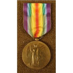 WWI U.S. VICTORY MEDAL & RIBBON -ID'D 1189 DVR SHAM