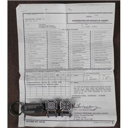NAMED G.I. GROUPING INCL,SHARPSHOOTER BADGE/RIFLE BAR