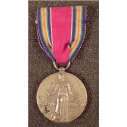 WWII U.S.VICTORY MEDAL WITH RIBBON PERIOD ORIGINAL