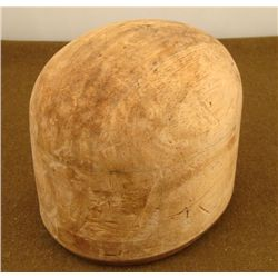 1920'S GERMAN WOOD HAT BLOCK-OWNER SIGNED 23-666