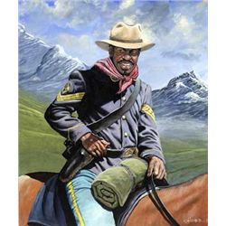 John W Jones - Buffalo Soldier on Patrol