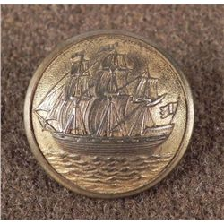 Swedish Antique Military Button Sporrong & Co. Ship