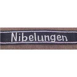 """NAZI SS OFFICER'S CUFF TITLE """"NIBELUNGEN"""" 38TH SS DIV"""