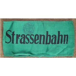 "GERMAN ARMBAND ""STRASSENBAHN""-STREETCAR OPERATOR W/ STA"