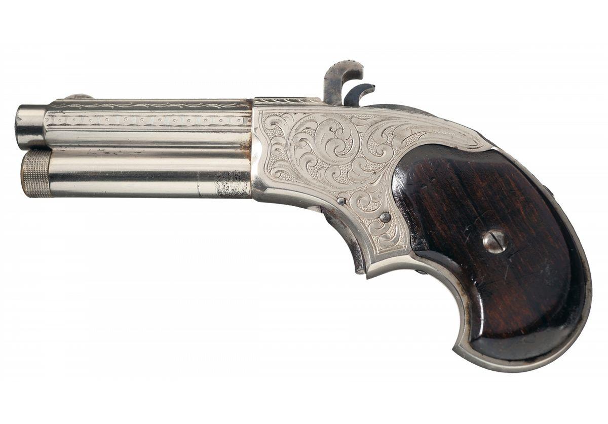 Excellent Engraved Remington Rider Magazine Pistol