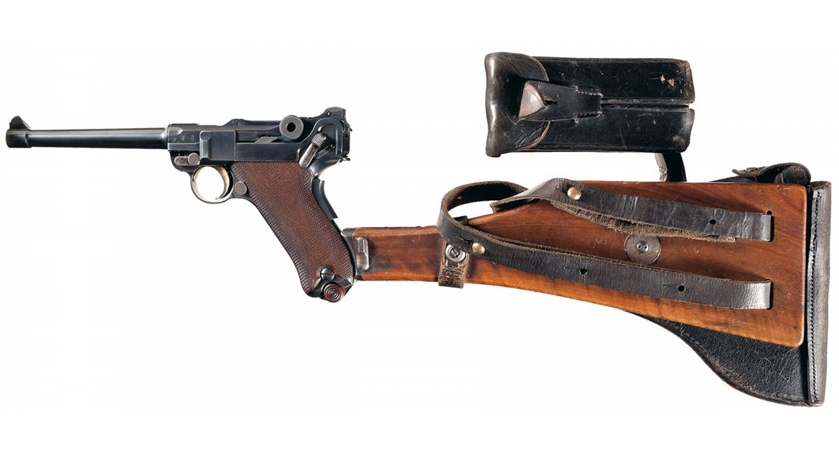 Outstanding Pre-World War I German 1906 DWM Navy Luger with Two Matching  Magazines, Navy Holster, Ma