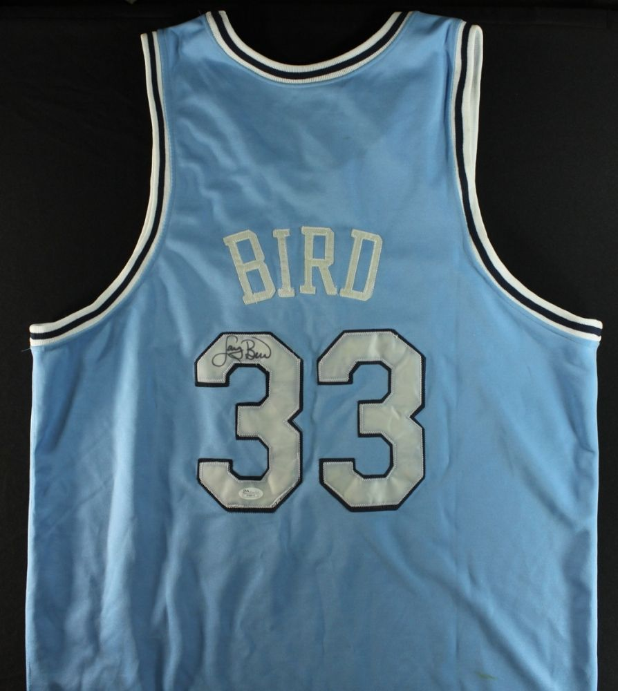 timeless design cdc51 01b5e Larry Bird Signed Indiana State Jersey (JSA LOA)
