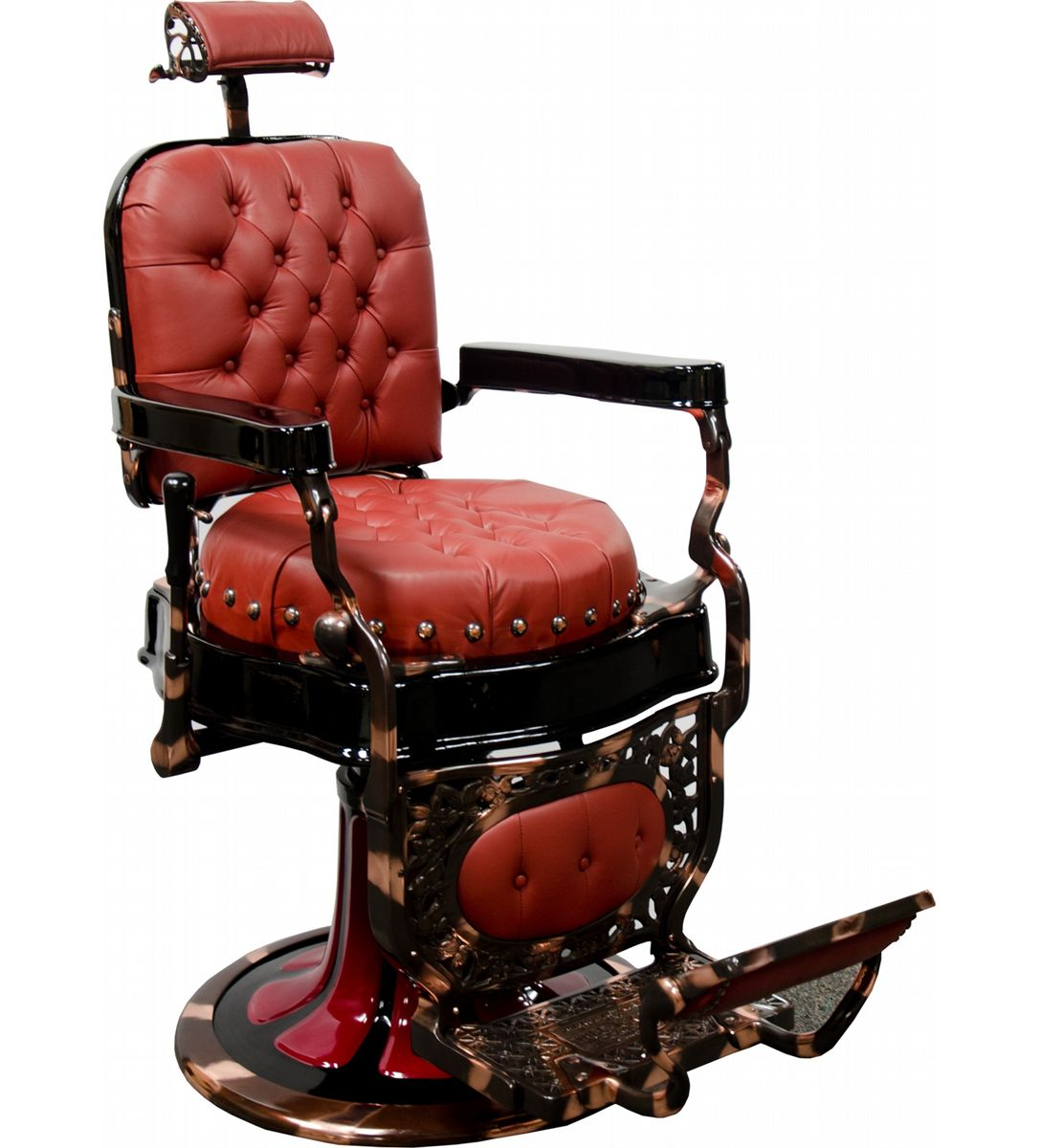 Old Barber Chairs >> Restored Koch Round Seat Barber Chair