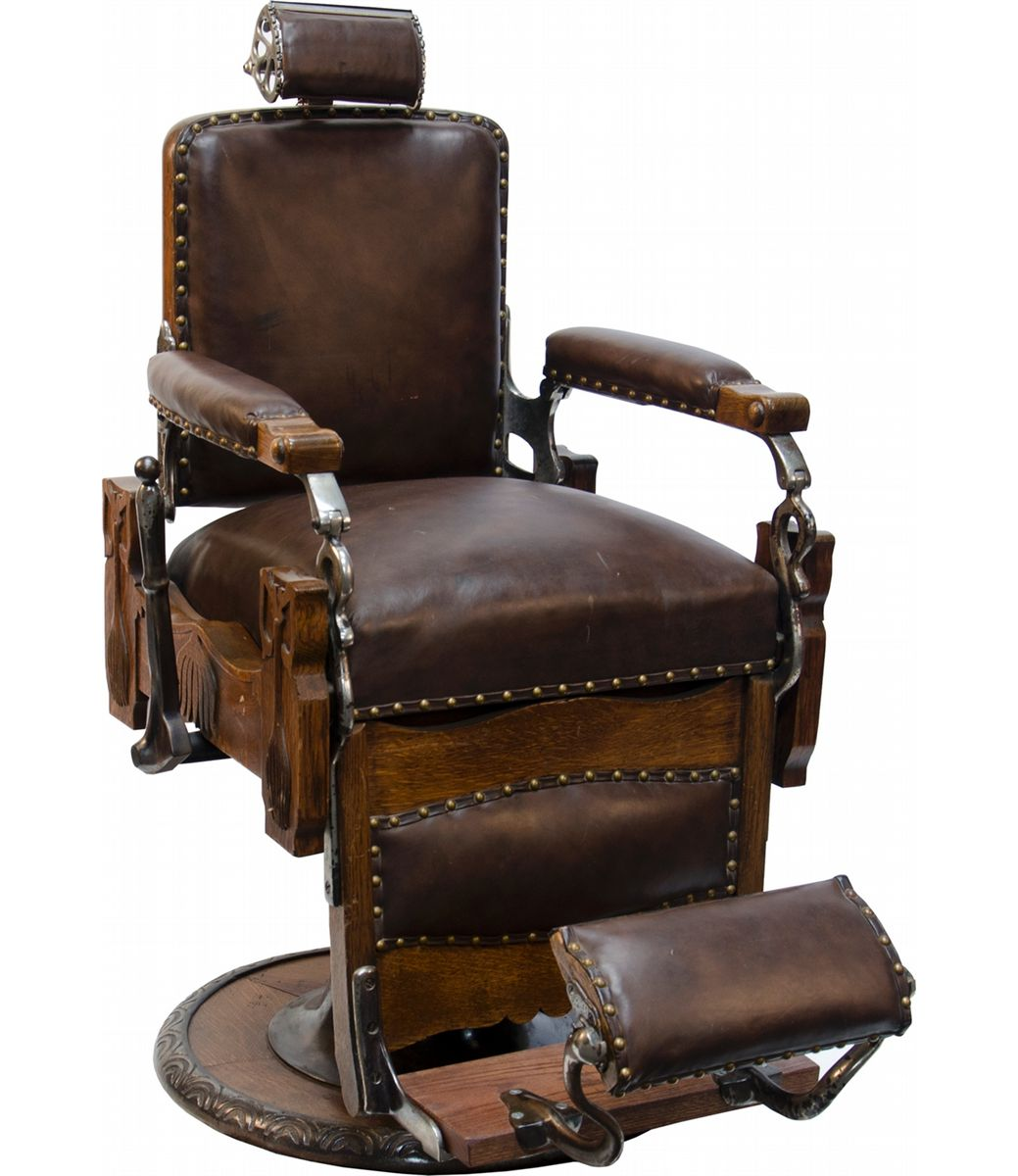 Old Barber Chairs >> Koken Congress Vintage Pedestal Barber Chair