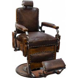 Koken Congress Vintage Pedestal Barber Chair