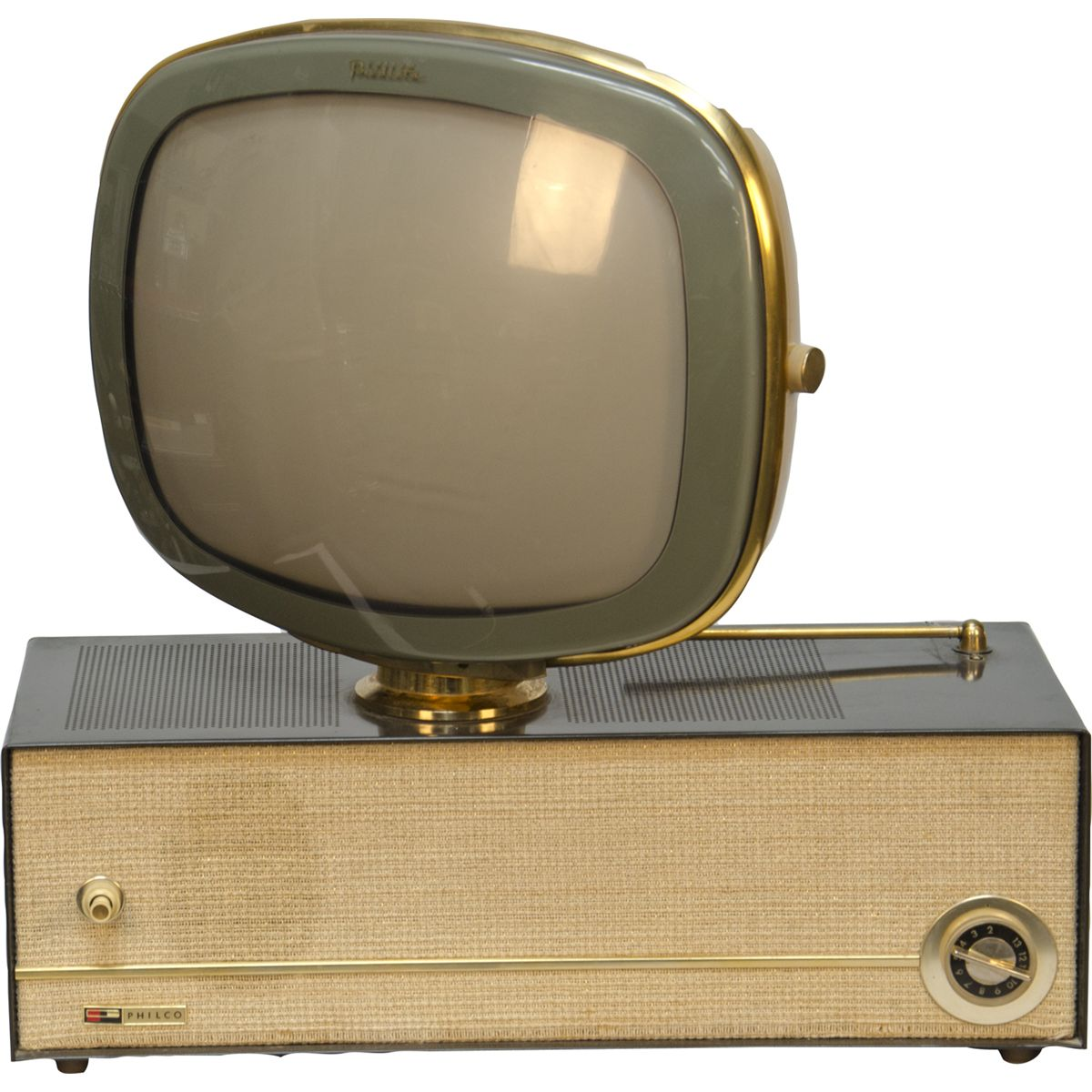 Round screen vintage televisions all clear