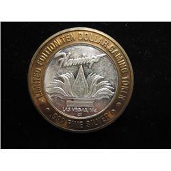 FLAMINGO HILTON CASINO $10 SILVER TOKEN (UNC)