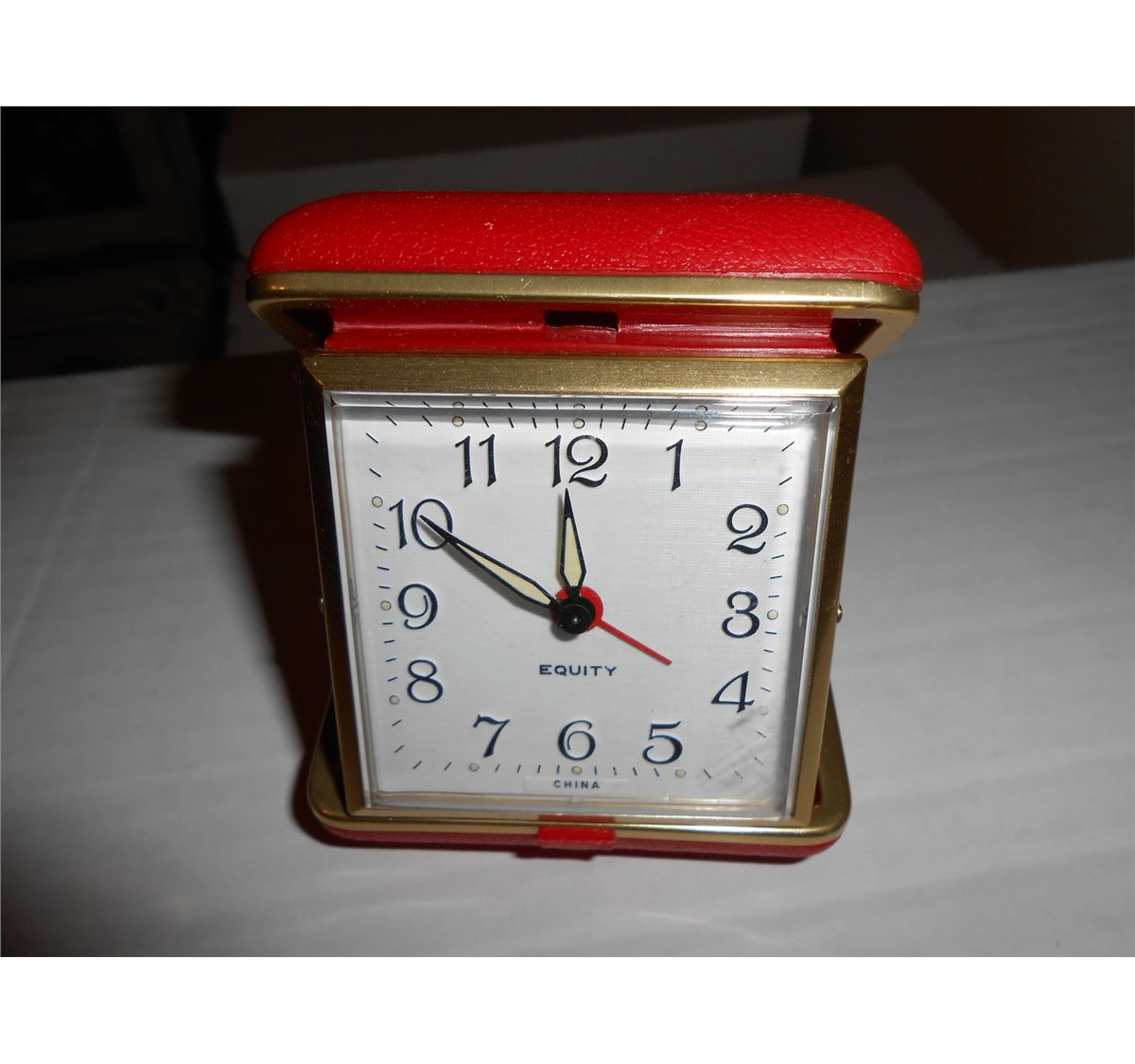 Vintage Equity Wind Up Travel Alarm Clock