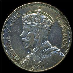 1933 New Zealand 1/2 Crown XF/AU (COI-10228)