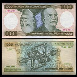 1985 Brazil 1000 Crusados Crisp Uncirculated Note (CUR-05571)