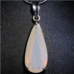 25.65twc Etheopian Jelly Opal Sterling Pendant (JEW-3916)