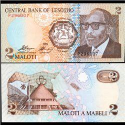 1989 Lesotho 2 Maloti Note Crisp Unc (CUR-07095)