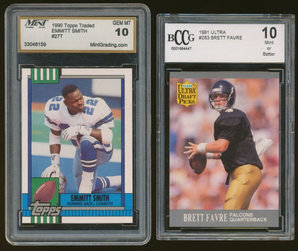 1990 Topps Traded #27T Emmitt Smith Rookie Graded BCCG 10