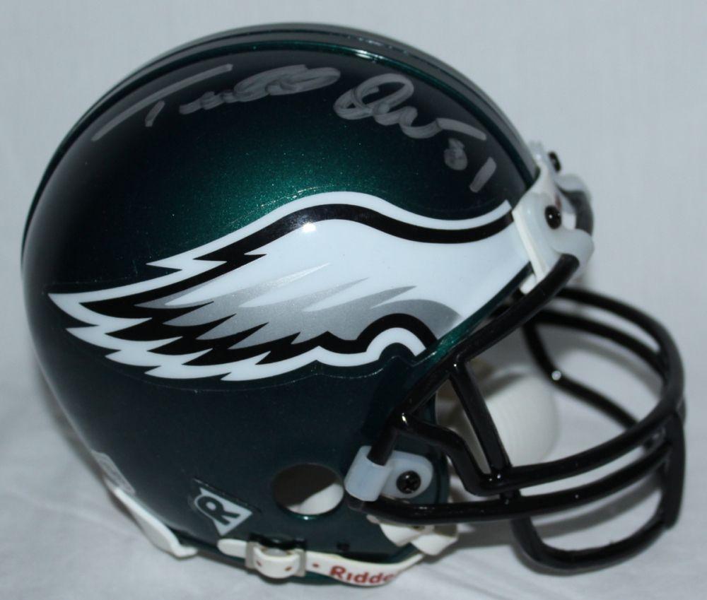 cheap for discount 6999b 3f177 Terrell Owens Signed Eagles Mini Helmet (GA COA)