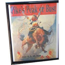1938 Pikes Peak poster