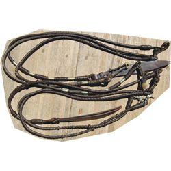 2 pairs braided rommel reins