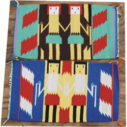 2 small Yei Pattern rugs