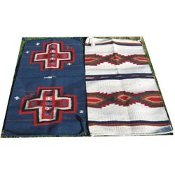 2 Indian pattern small rugs