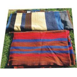 2 wool camp blankets