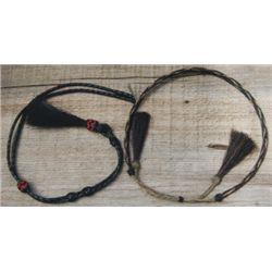 horse hair hat band & stampede string