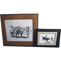 2 signed Barbara Anne prints