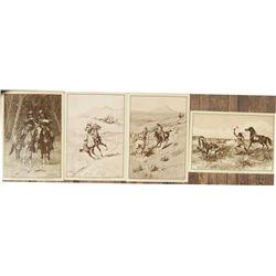4 Harpers Valley postcards