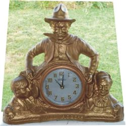Will Rogers bronze 1940-50's clock