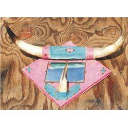 Old steer horn mount