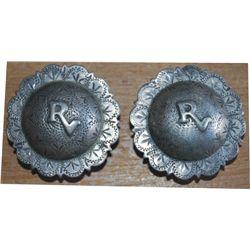 Rancho Vistadores silver 2 inch conchos