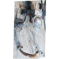 Early Arizona pattern silver overlaid bit with early spotted headstall