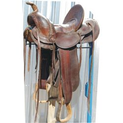 1890's very rare JW Boone, Prineville, OR loop seat saddle
